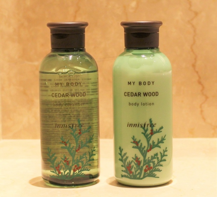 Innisfree Cedar Wood Body Cleanser & Lotion