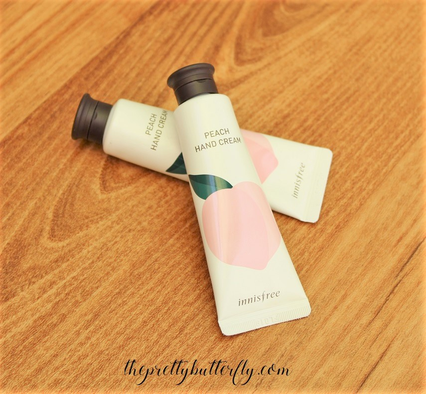 Innisfree Peach Hand Cream (2)