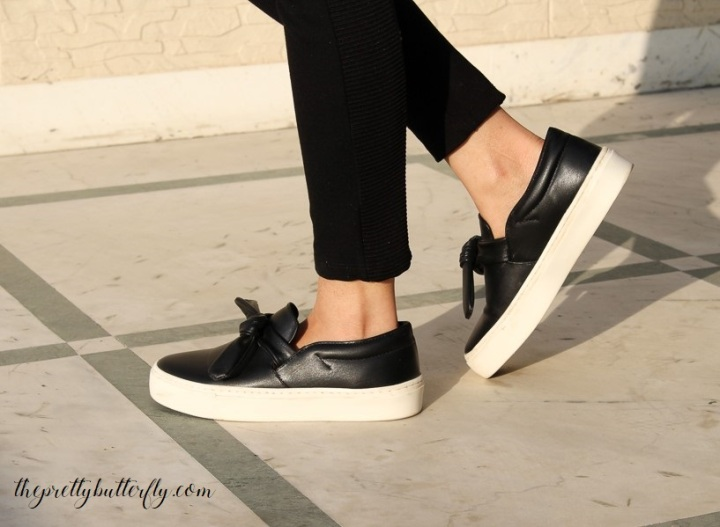sneakers with bow