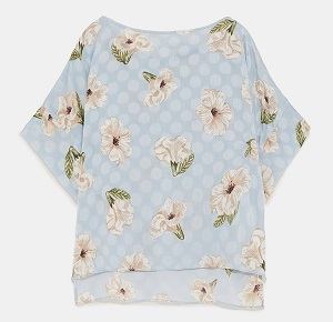ZARA FLORAL POLKA DOT TOP