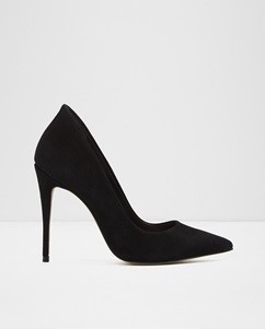 ALDO BLACK SUEDE PUMPS (2)