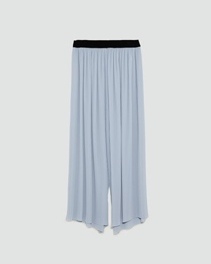ZARA DUSTY BLUE CULOTTES