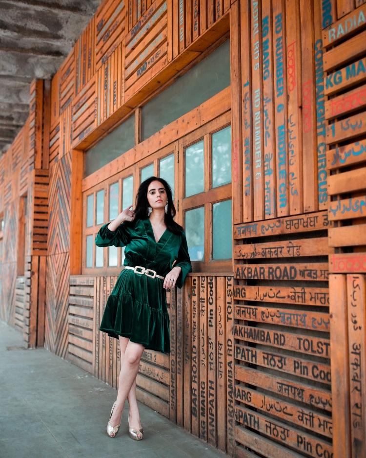 Green Velvet Dress 2