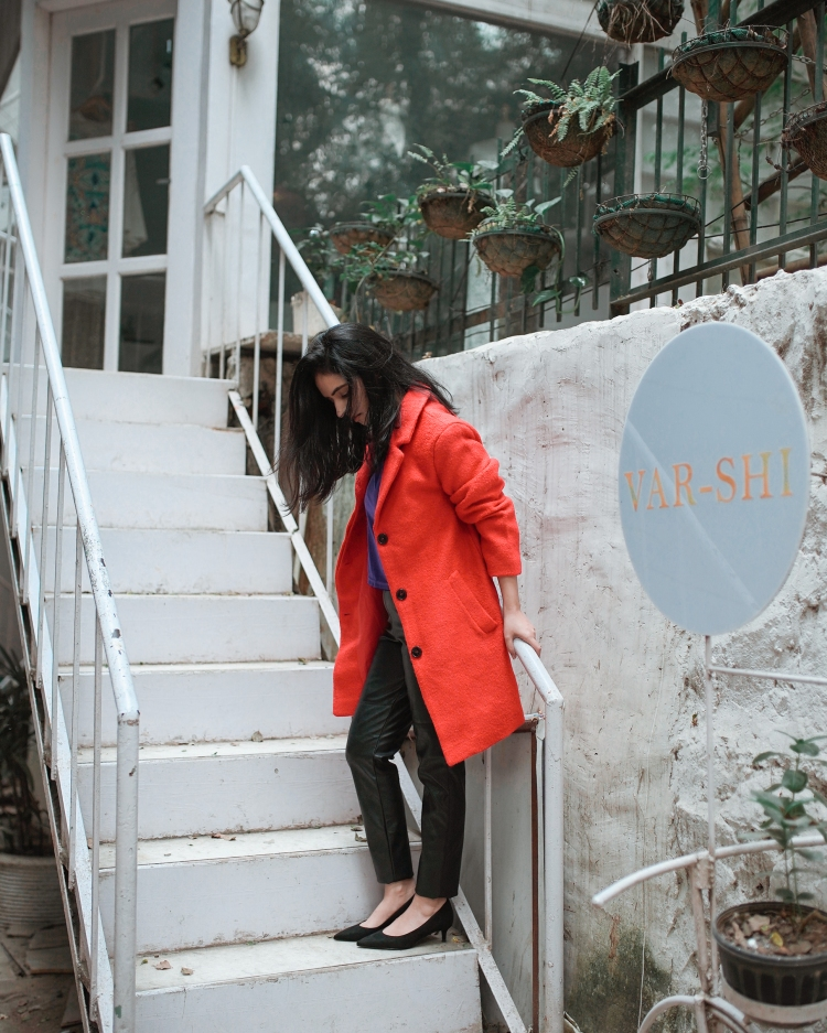 Red coat for winters 2