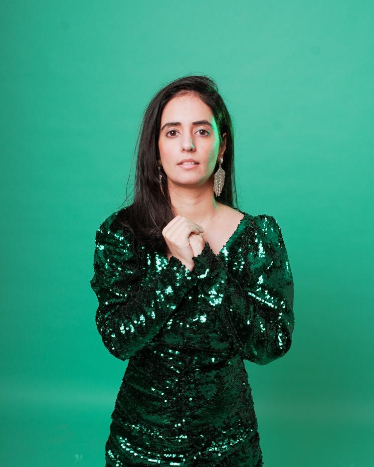 zara green sequin dress 5