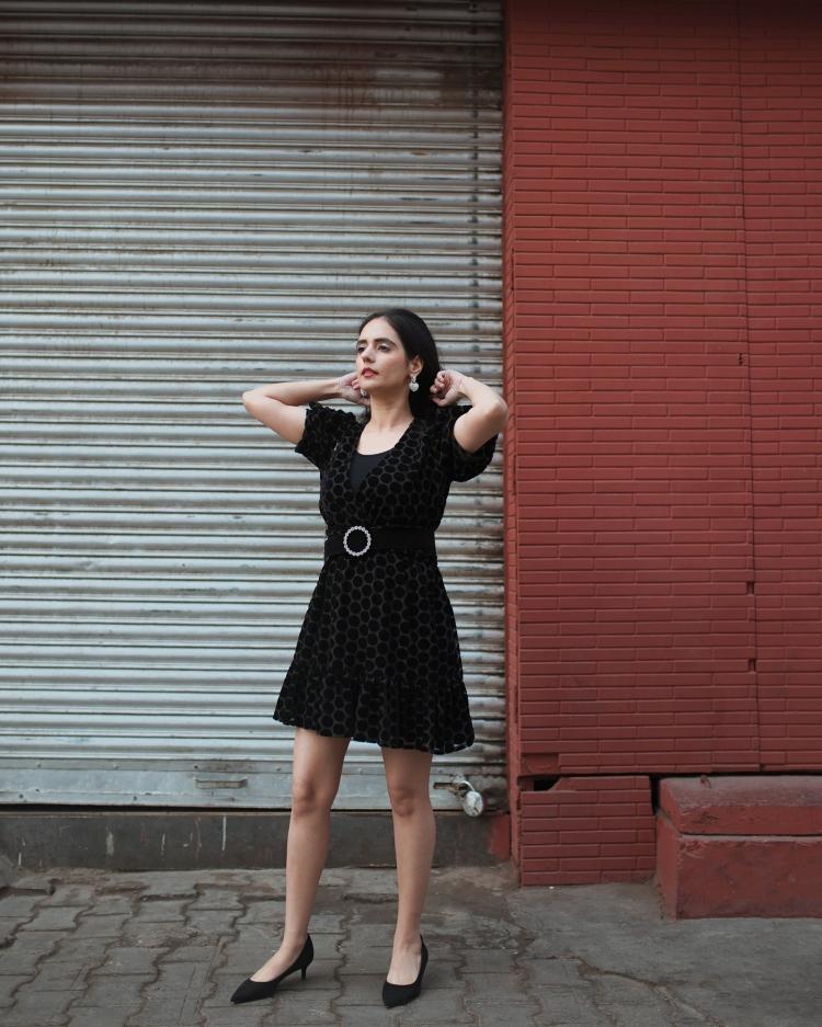 ZARA VELVET DRESS 4