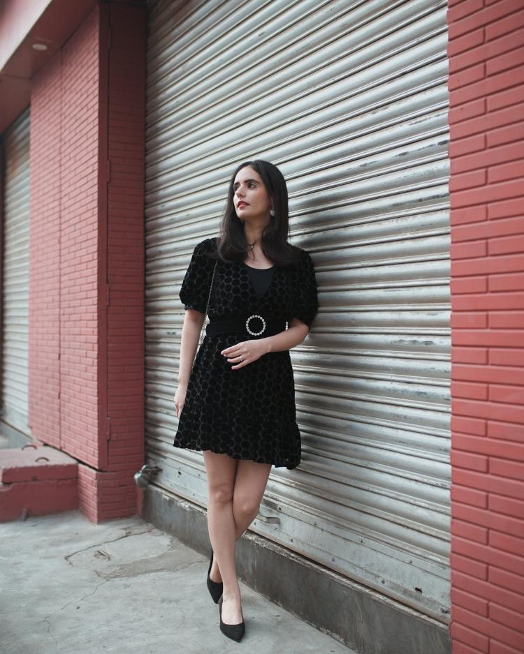 ZARA VELVET DRESS 5